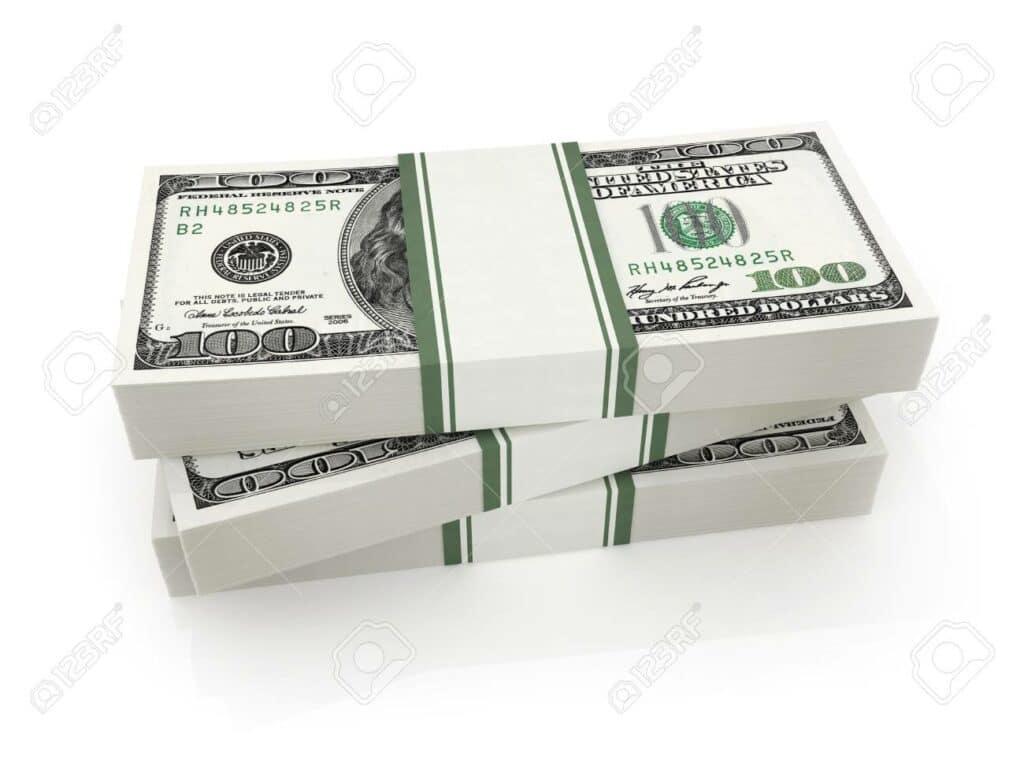 Muitas notas de cem doláres