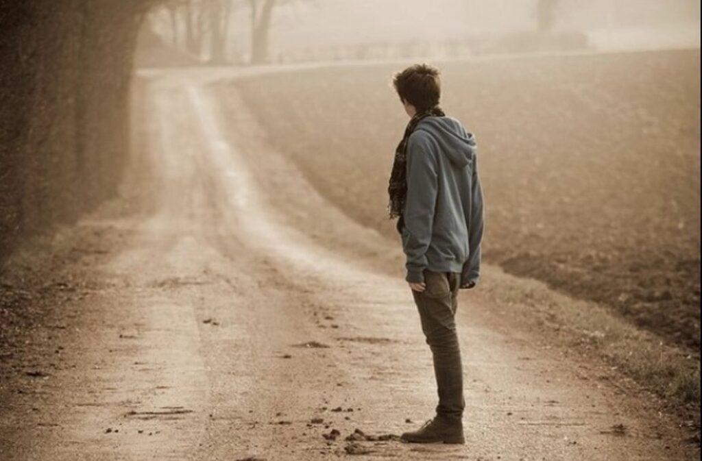 Olhando para a estrada