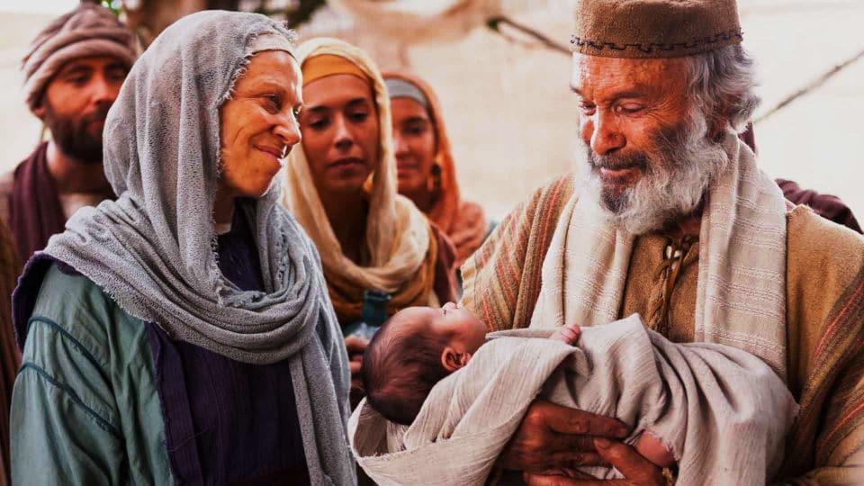 O nascimento de João Batista filho do sacerdote Zacarias e Isabel
